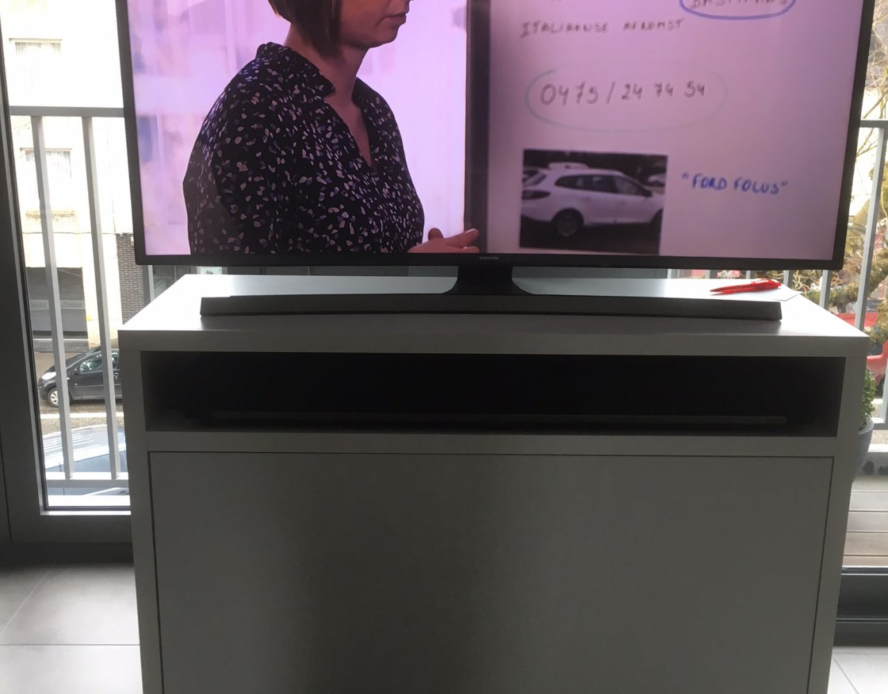Maatmeubel Met Sonos Playbar En Samsung Suhd Concepts Zottegem